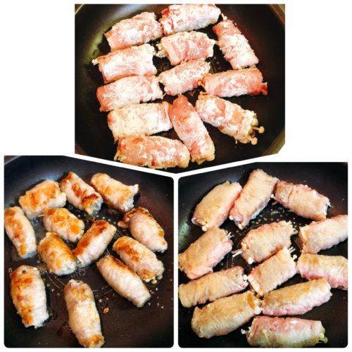 豚肉えのき巻き焼き方