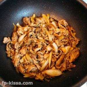 調味料が煮詰まればスタミナ豚丼の具の完成