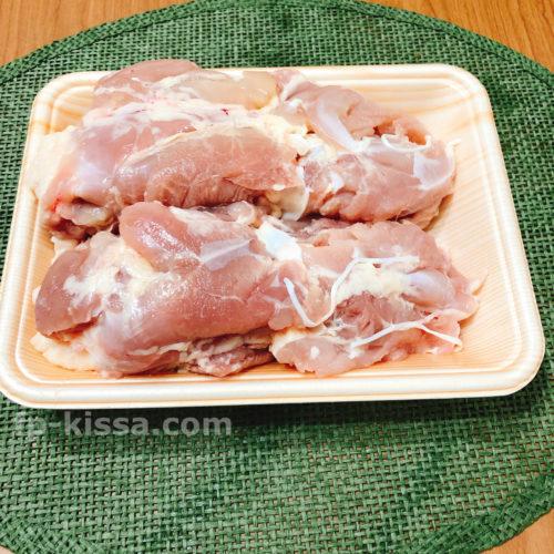 塩からあげの材料の鶏もも肉