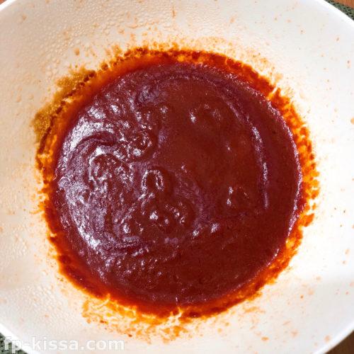 トマトソースを電子レンジで温める