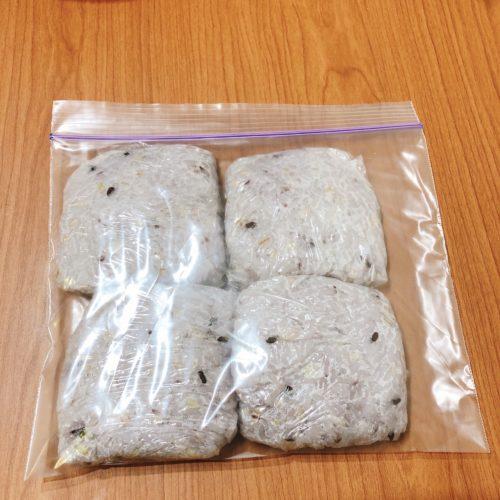 雑穀米を冷凍保存
